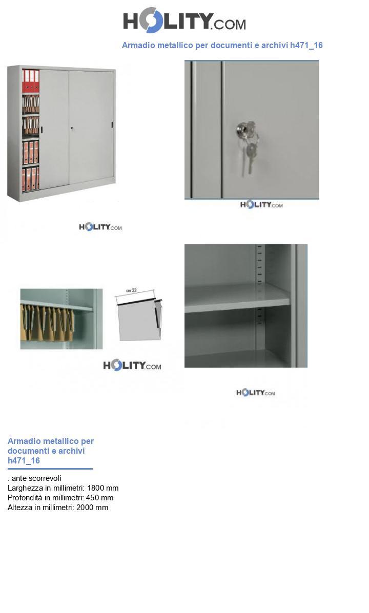Armadio metallico per documenti e archivi h471_16