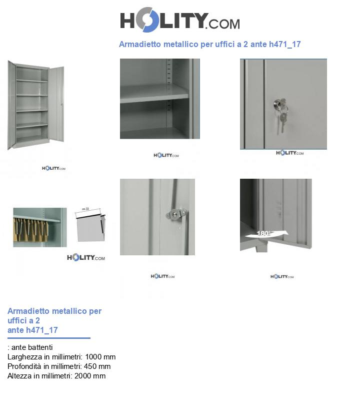 Armadietto metallico per uffici a 2 ante h471_17