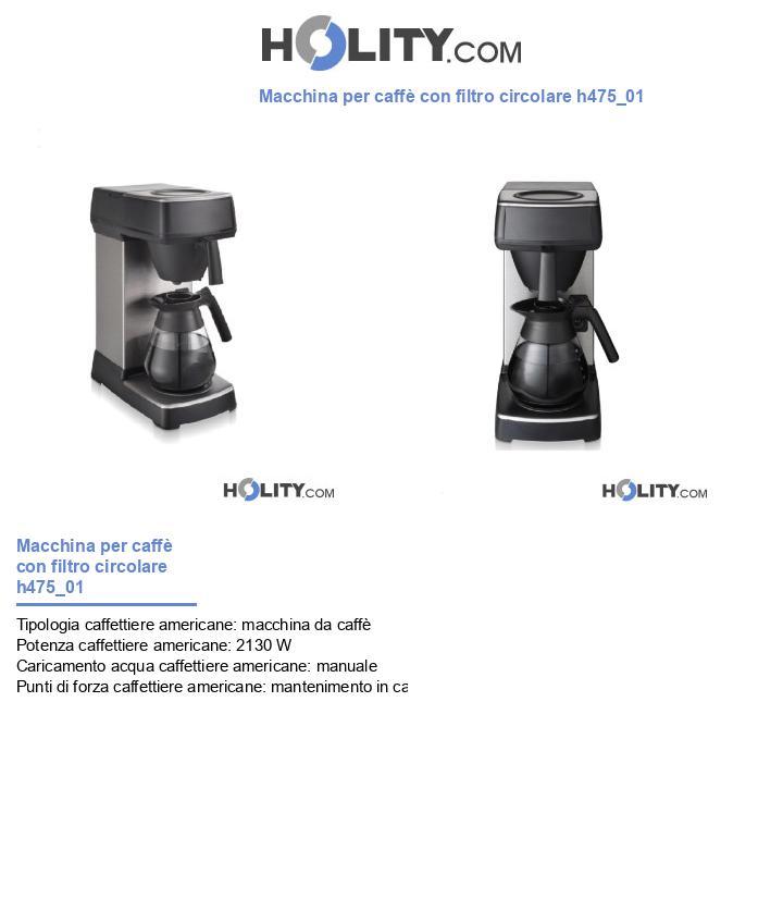 Circuito V Pay : Macchina per caffè con filtro circolare h
