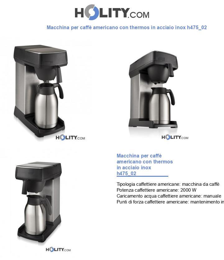 Macchina per caffè americano con thermos in acciaio inox h475_02