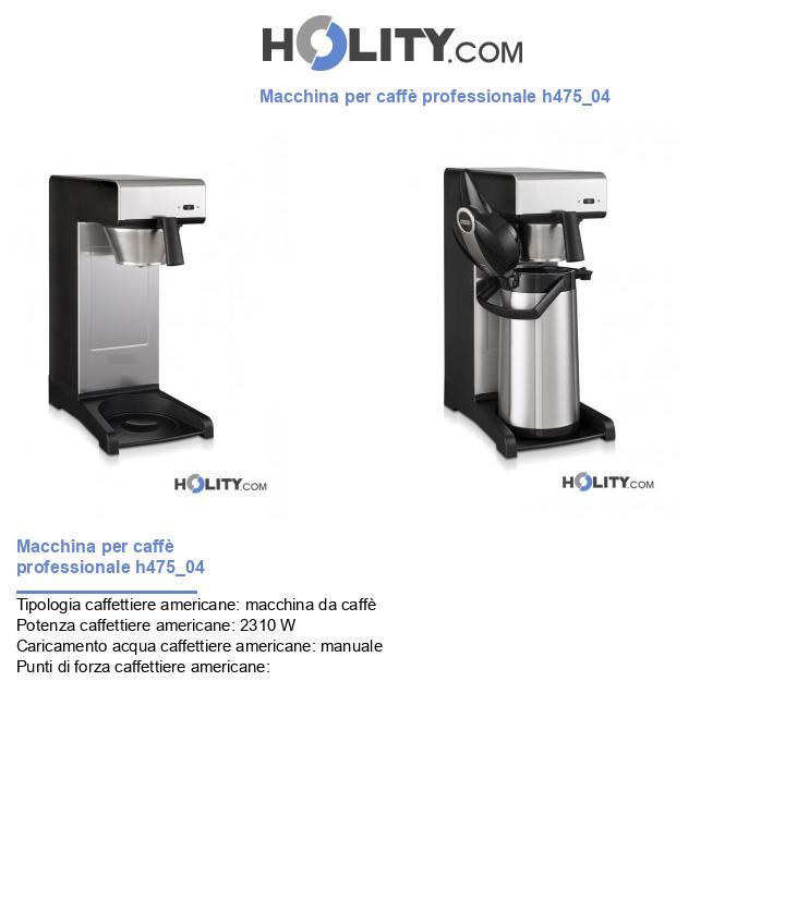 Macchina per caffè professionale h475_04
