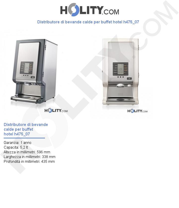 Distributore di bevande calde per buffet hotel h475_07