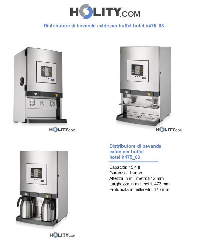Distributore di bevande calde per buffet hotel h475_08