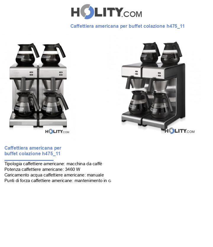 Caffettiera americana per buffet colazione h475_11