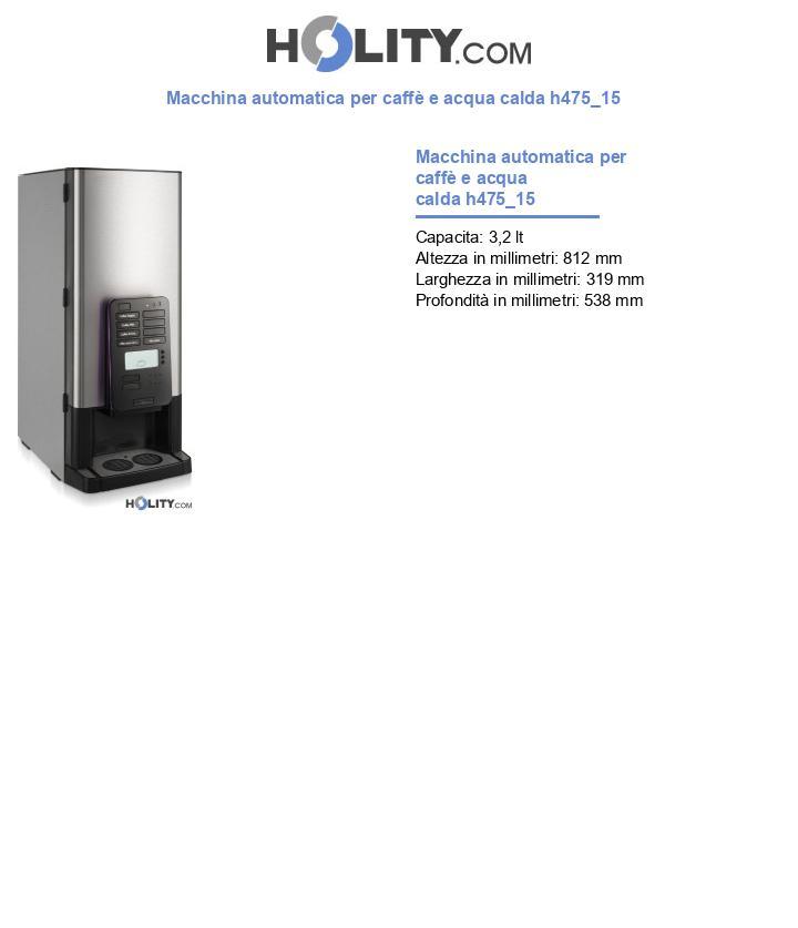 Macchina automatica per caffè e acqua calda h475_15