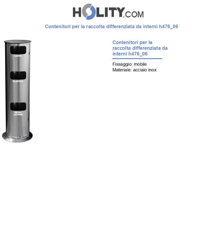 Contenitori per la raccolta differenziata da interni h476_06