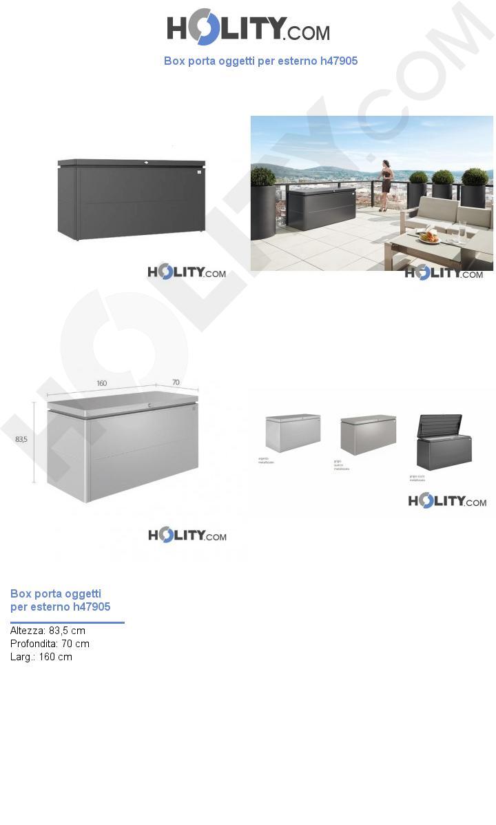 Box porta oggetti per esterno h47905
