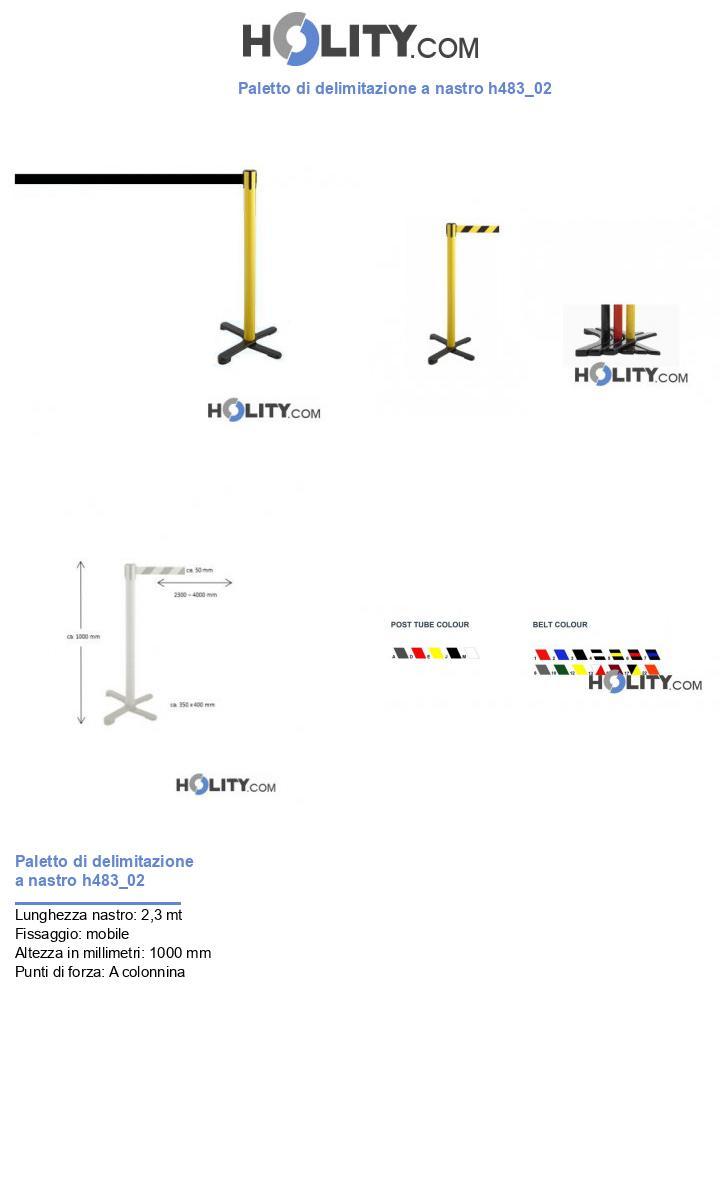 Paletto di delimitazione a nastro h483_02