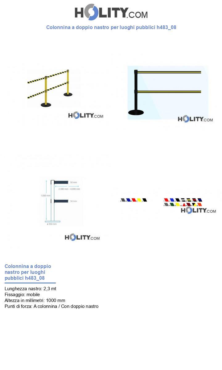 Colonnina a doppio nastro per luoghi pubblici h483_08