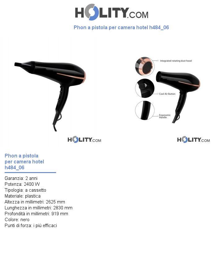 Phon a pistola per camera hotel h484_06