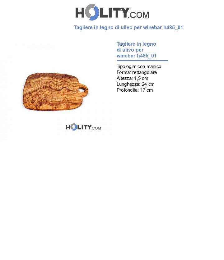 Tagliere in legno di ulivo per winebar h485_01
