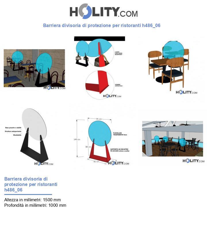 Barriera divisoria di protezione per ristoranti h486_06