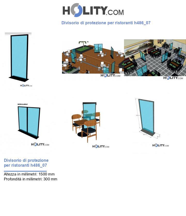 Divisorio di protezione per ristoranti h486_07