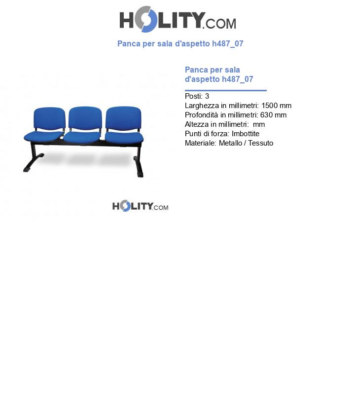 Panca per sala d'aspetto h487_07