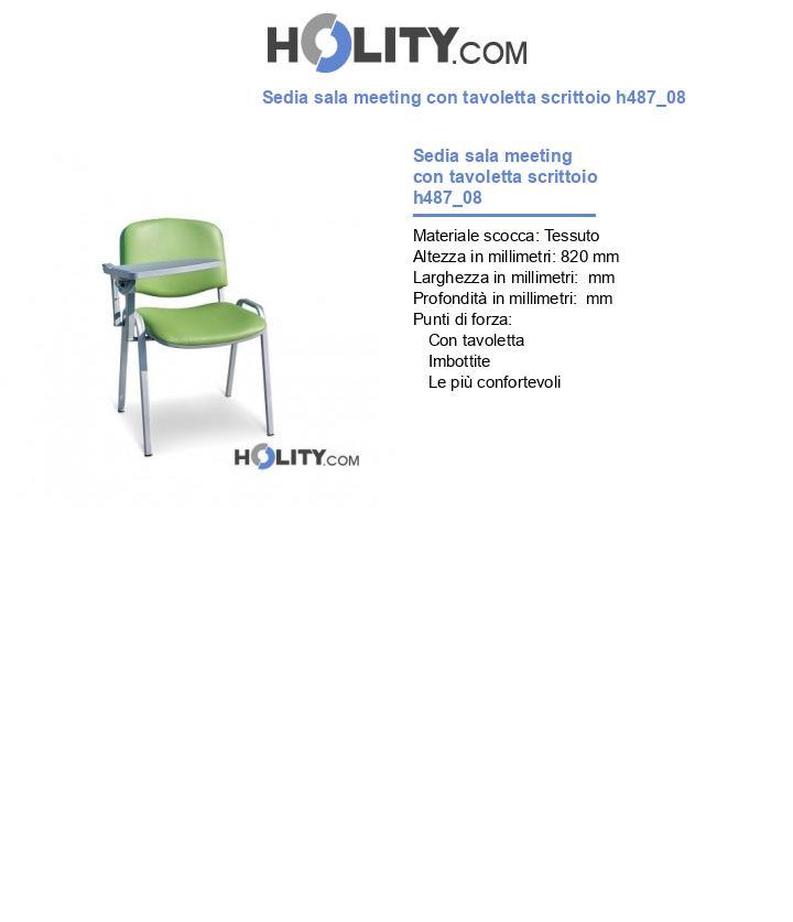 Sedia sala meeting con tavoletta scrittoio h487_08