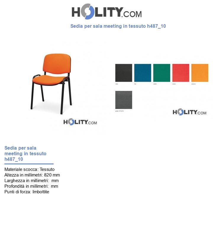 Sedia per sala meeting in tessuto h487_10