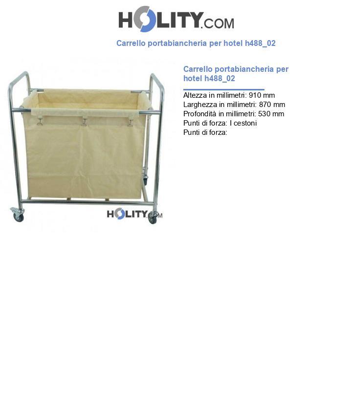Carrello portabiancheria per hotel h488_02