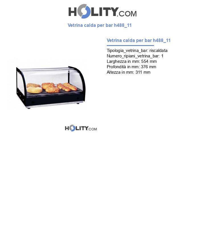 Vetrina calda per bar h488_11