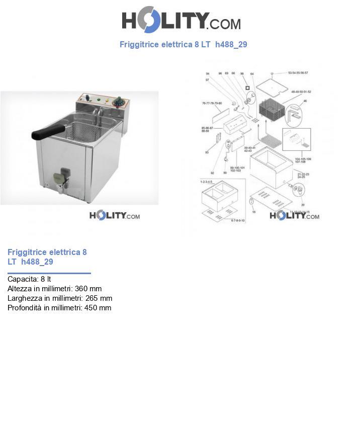 Friggitrice elettrica 8 LT  h488_29