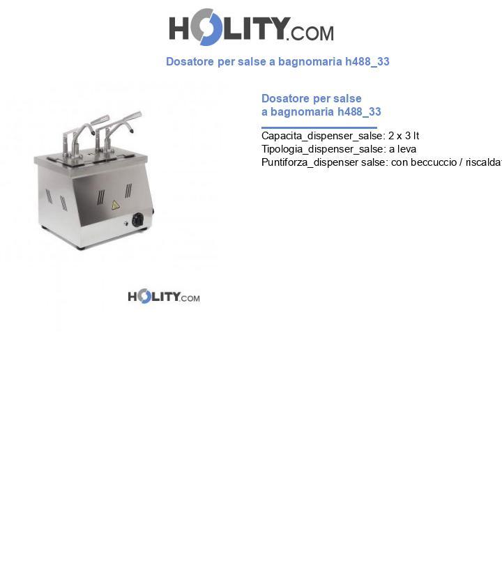 Dosatore per salse a bagnomaria h488_33