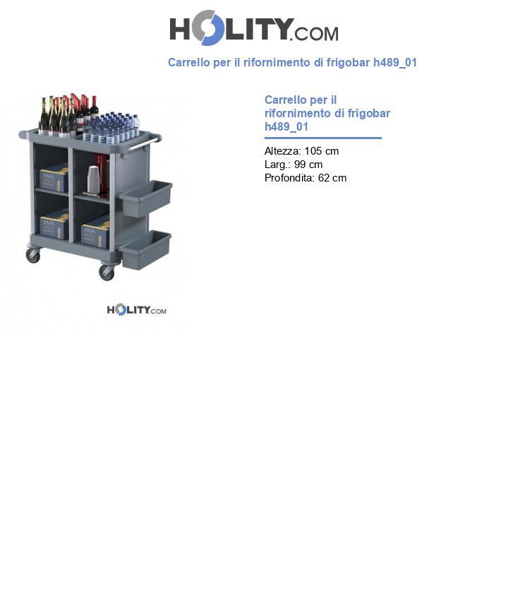 Carrello per il rifornimento di frigobar h489_01
