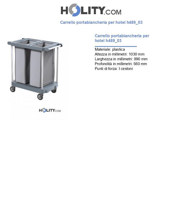 Carrello portabiancheria per hotel h489_03