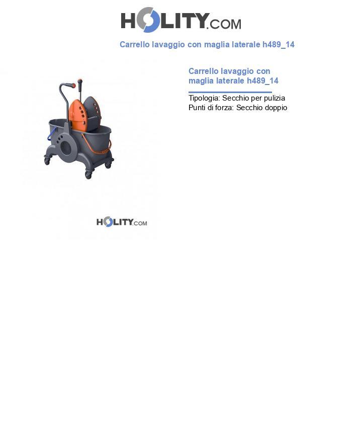 Carrello lavaggio con maglia laterale h489_14