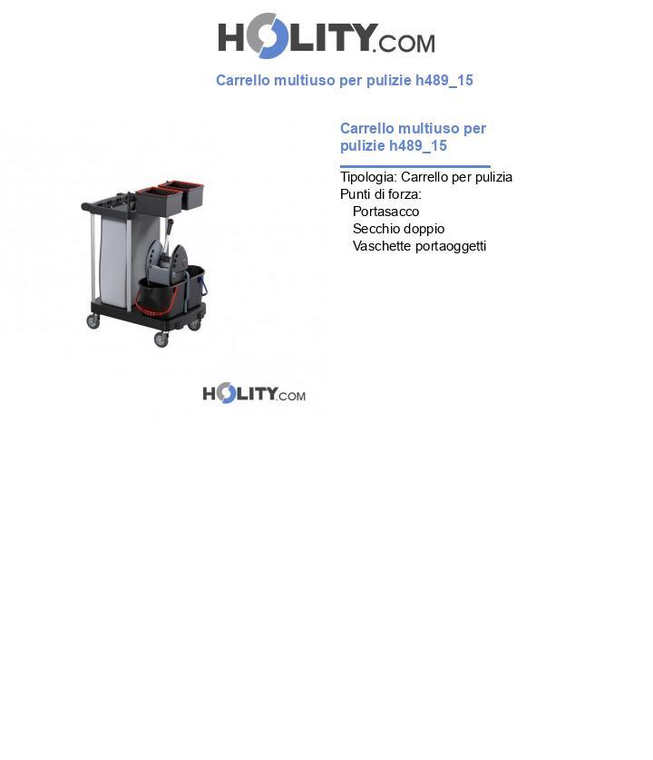 Carrello multiuso per pulizie h489_15