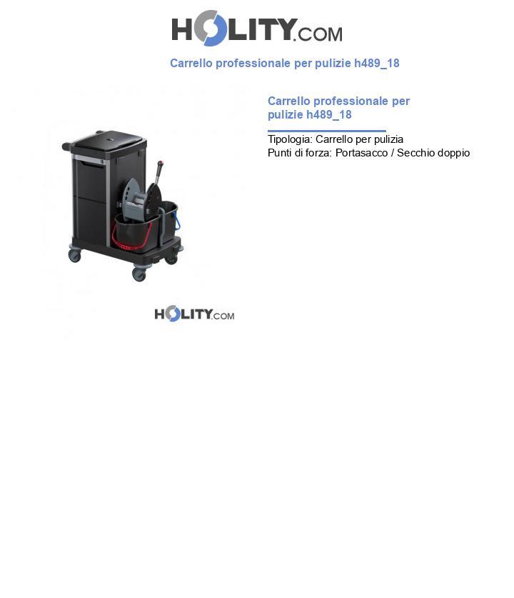 Carrello professionale per pulizie h489_18