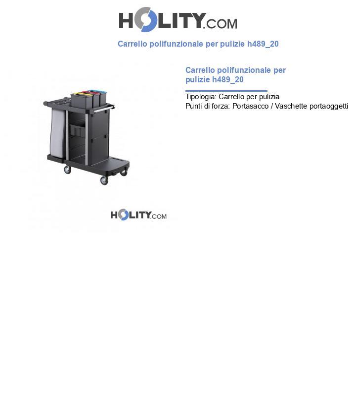 Carrello polifunzionale per pulizie h489_20
