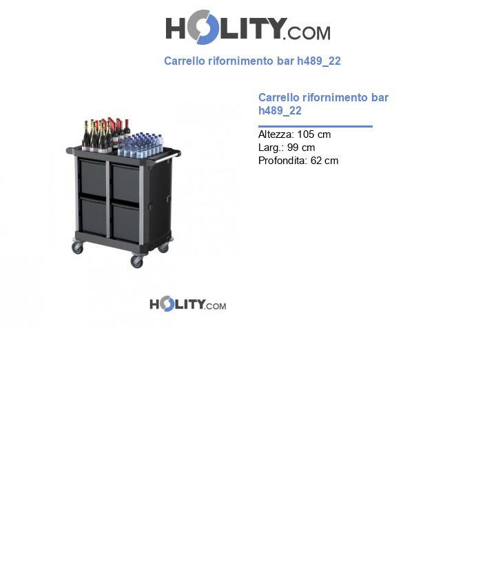 Carrello rifornimento bar h489_22