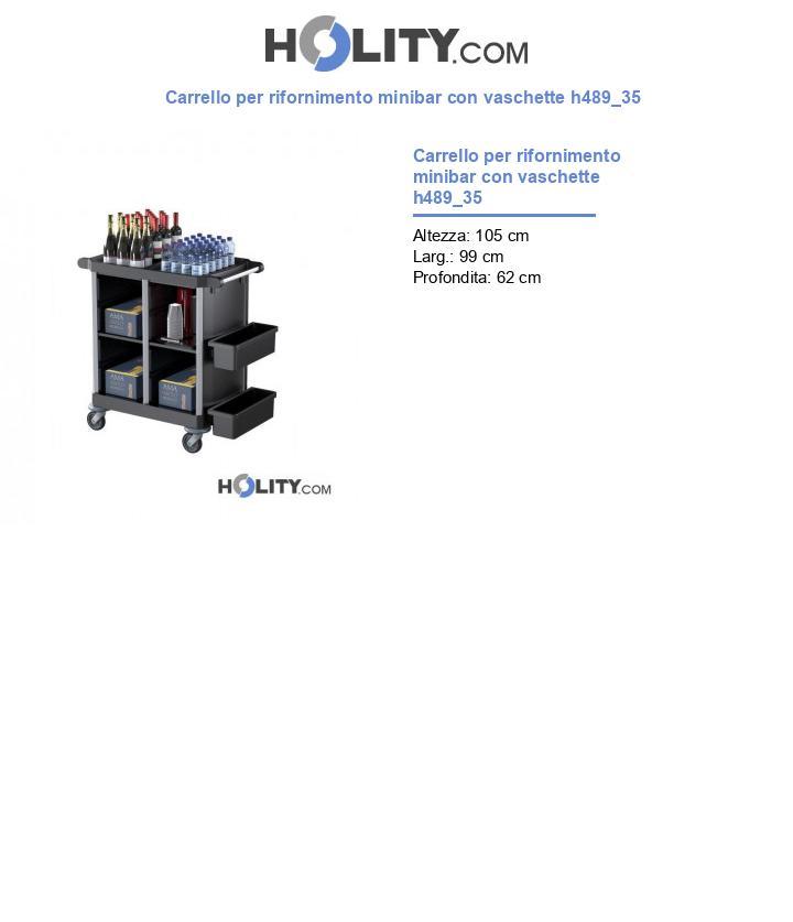 Carrello per rifornimento minibar con vaschette h489_35