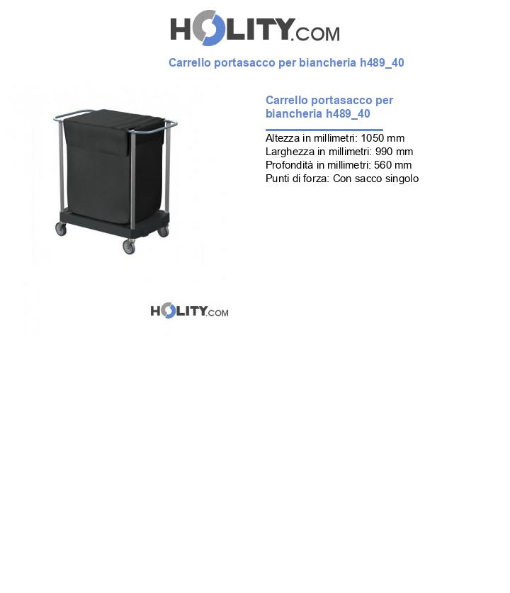 Carrello portasacco per biancheria h489_40