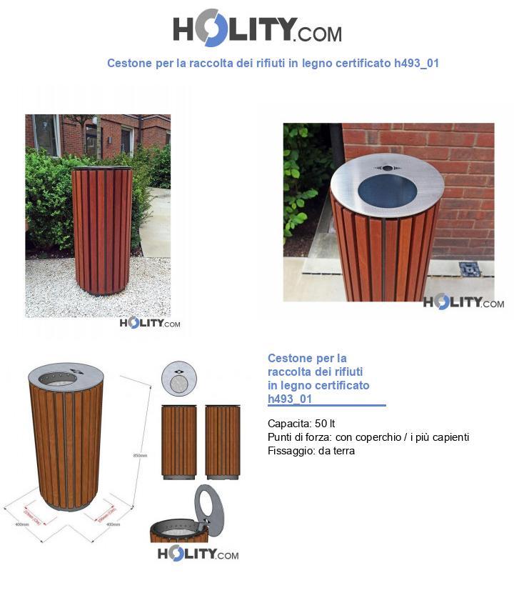 Cestone per la raccolta dei rifiuti in legno certificato h493_01
