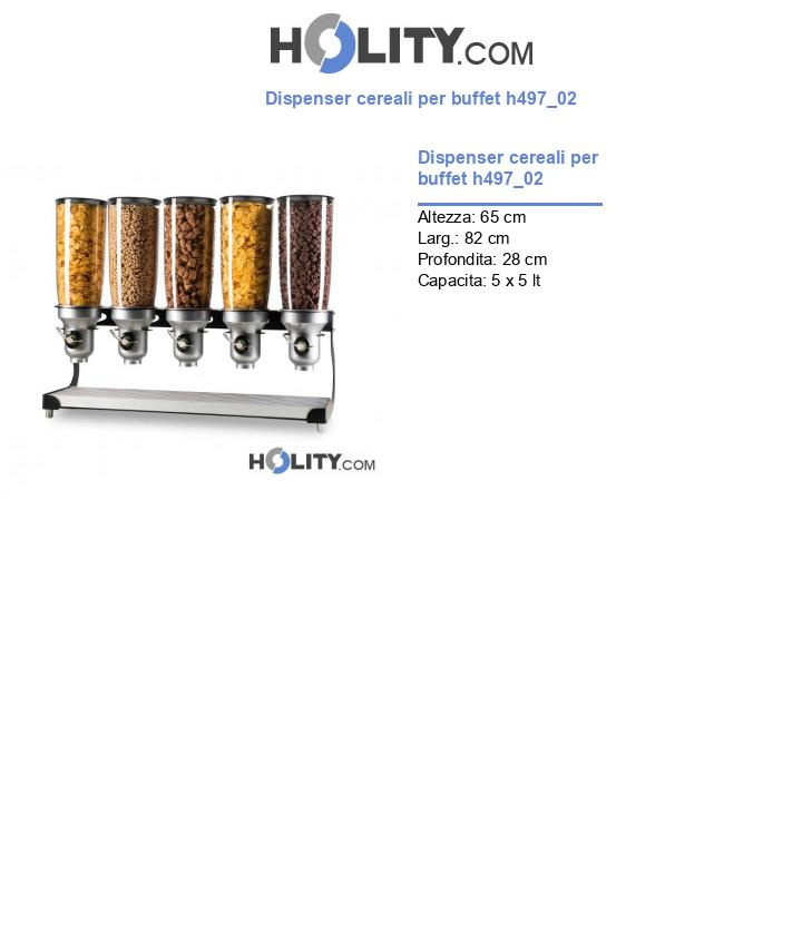 Dispenser cereali per buffet h497_02