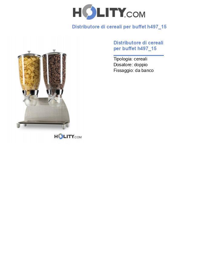 Distributore di cereali per buffet h497_15