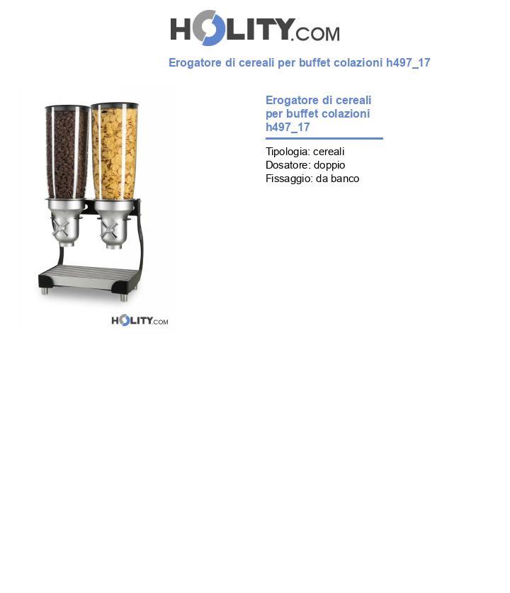 Erogatore di cereali per buffet colazioni h497_17
