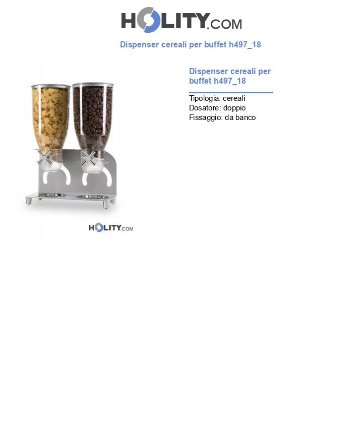 Dispenser cereali per buffet h497_18