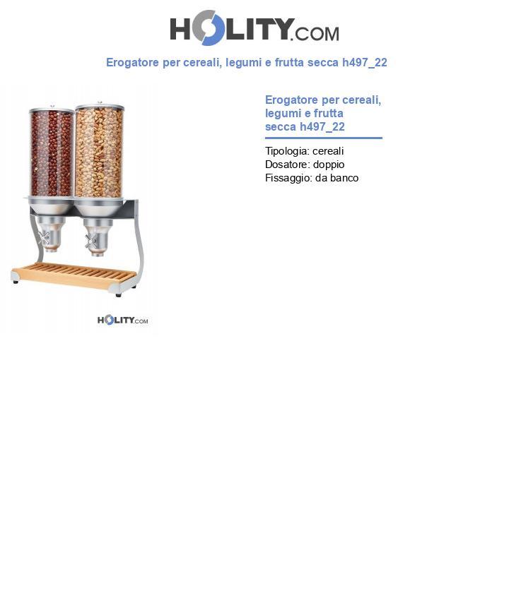 Erogatore per cereali, legumi e frutta secca h497_22