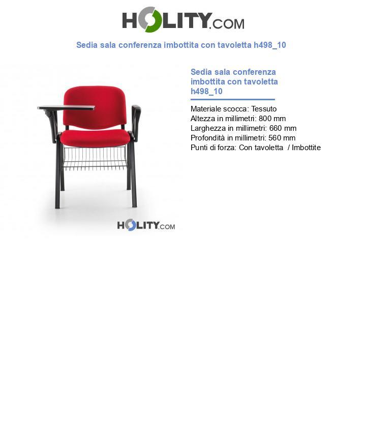 Sedia sala conferenza imbottita con tavoletta h498_10