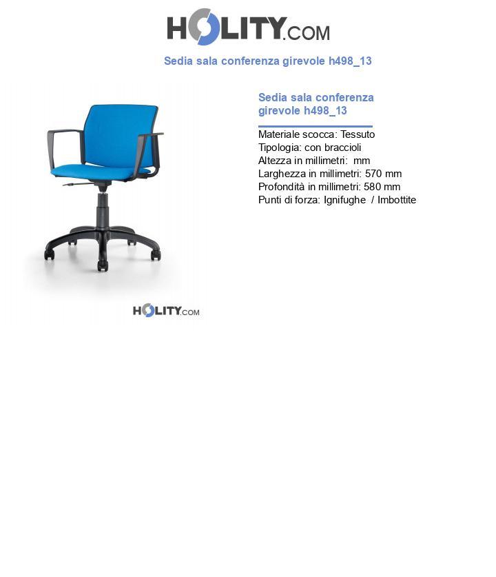 Sedia sala conferenza girevole h498_13