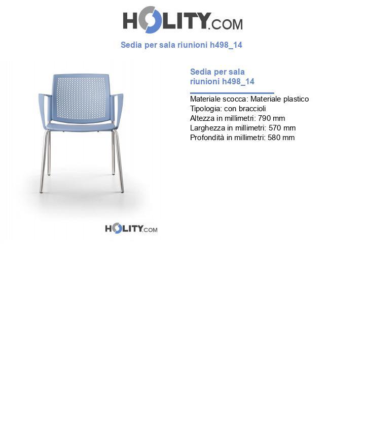 Sedia per sala riunioni h498_14