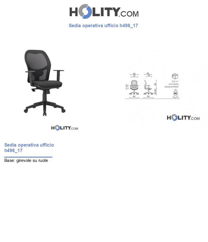 Sedia operativa ufficio h498_17