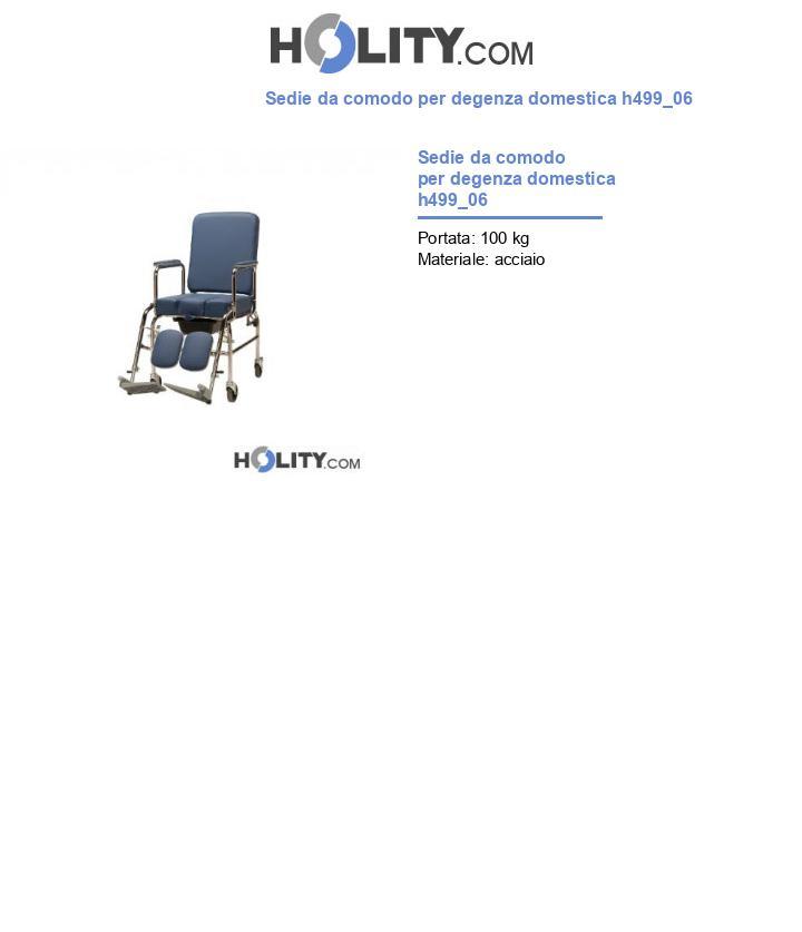 Sedie da comodo per degenza domestica h499_06