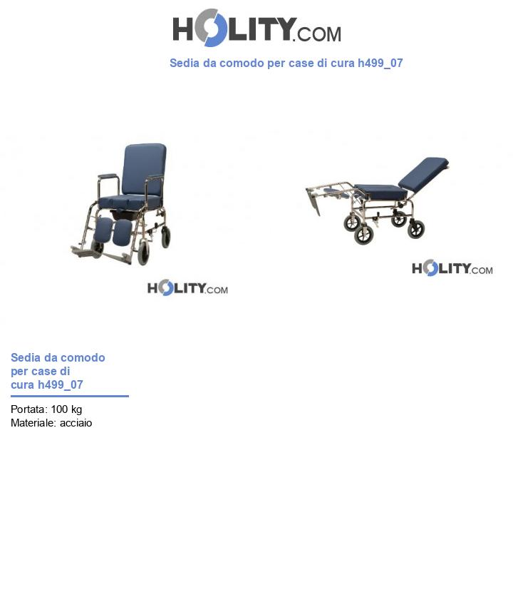 Sedia da comodo per case di cura h499_07