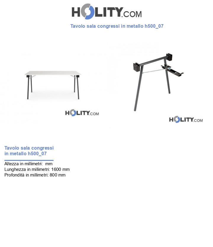 Tavolo sala congressi in metallo h500_07