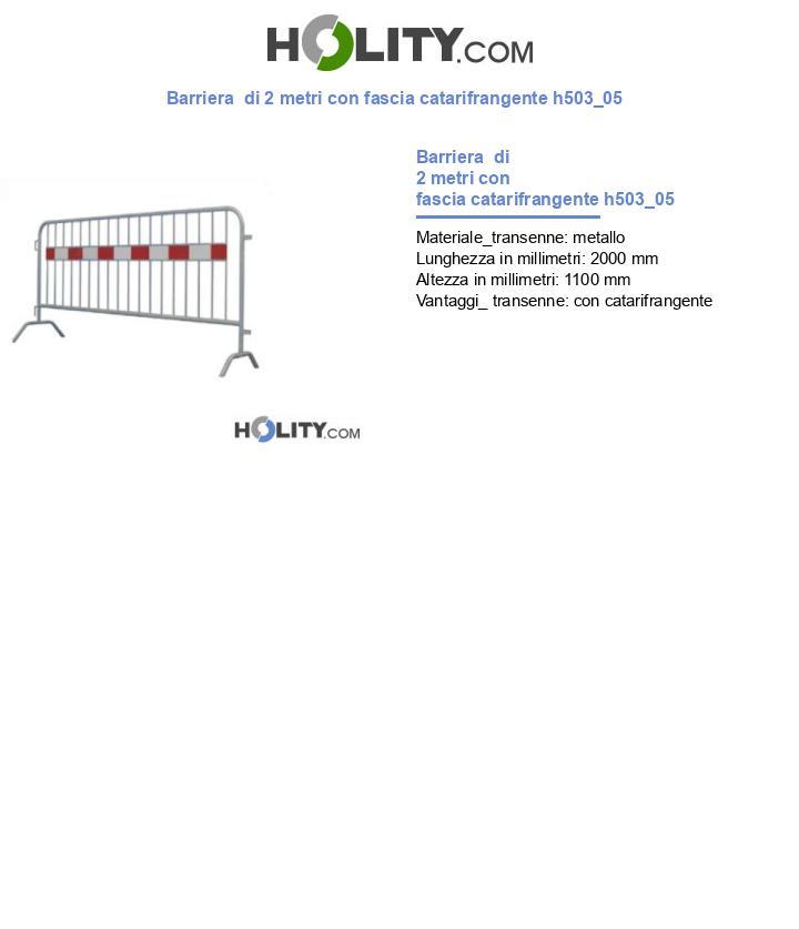 Barriera  di 2 metri con fascia catarifrangente h503_05