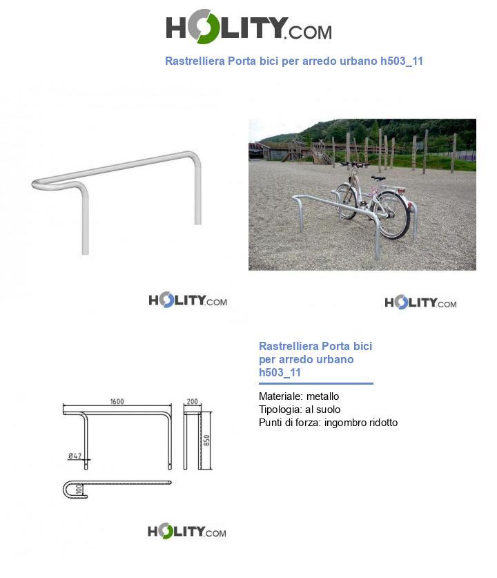 Rastrelliera Porta bici per arredo urbano h503_11