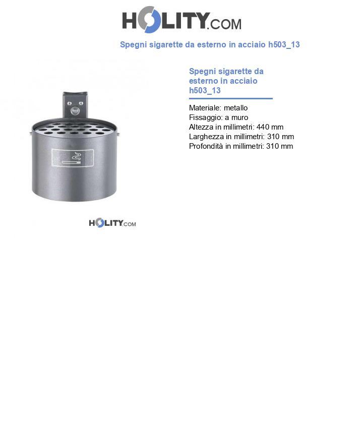Spegni sigarette da esterno in acciaio h503_13