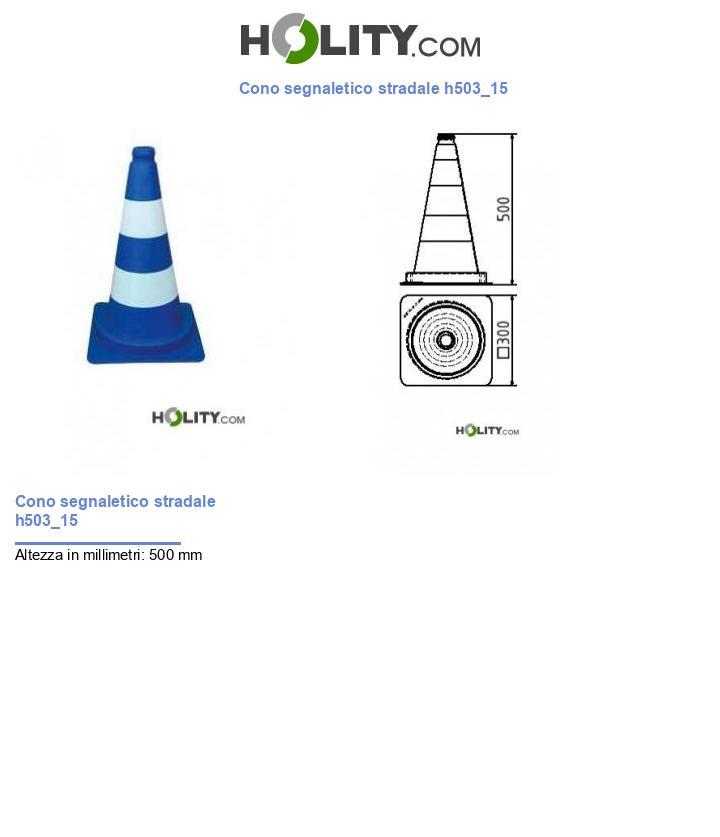 Cono segnaletico stradale h503_15